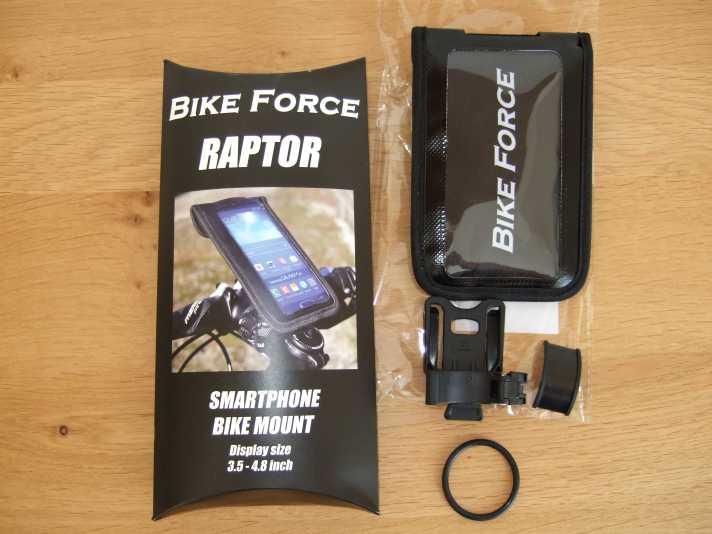 Bike Force Raptor Smartphone Bike Mount Test   MTB-News.de