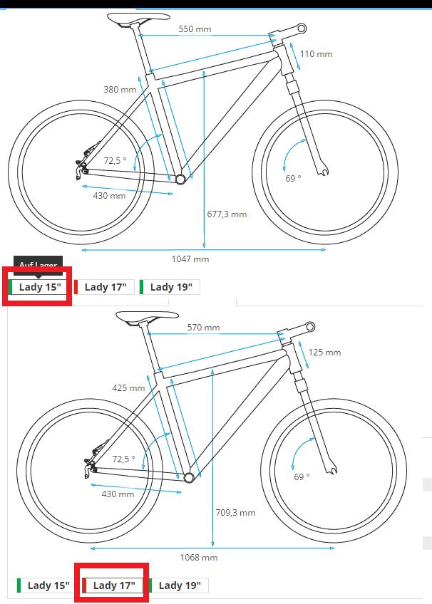 27.5 Lady Hardtail Dilemma - Geometrie, Rahmengröße? | MTB-News.de