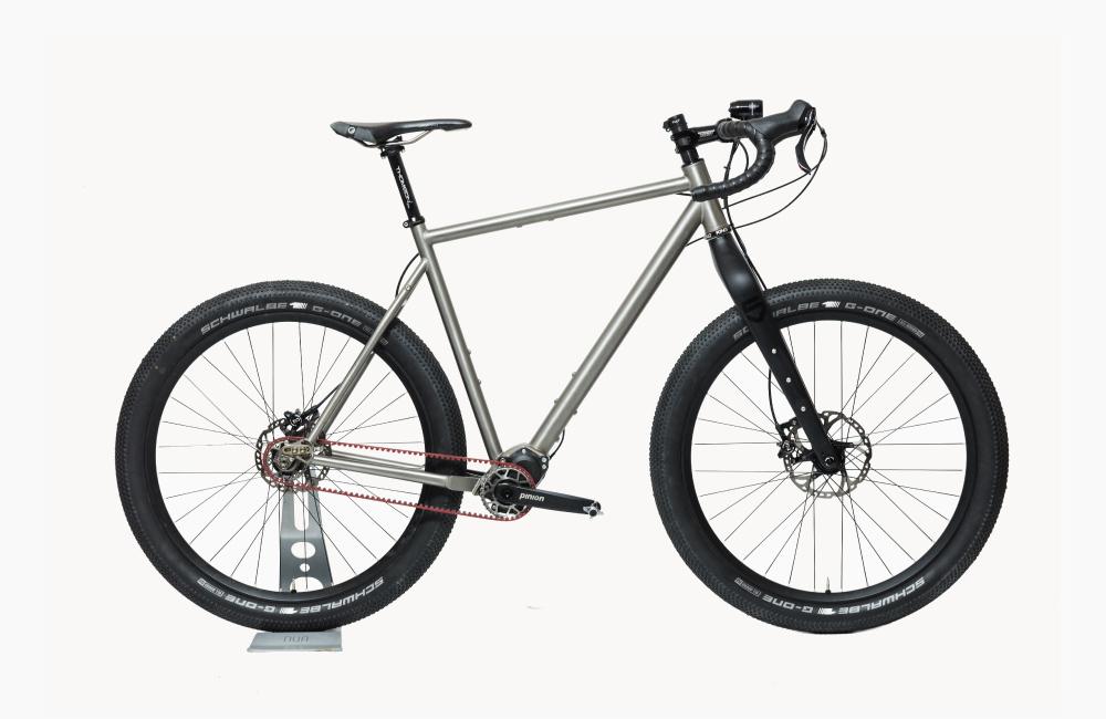 NUA_BIKES_LA_BESTIA_custom_titanium_bike_monster_gravel_pinion_gearbox_side.jpg
