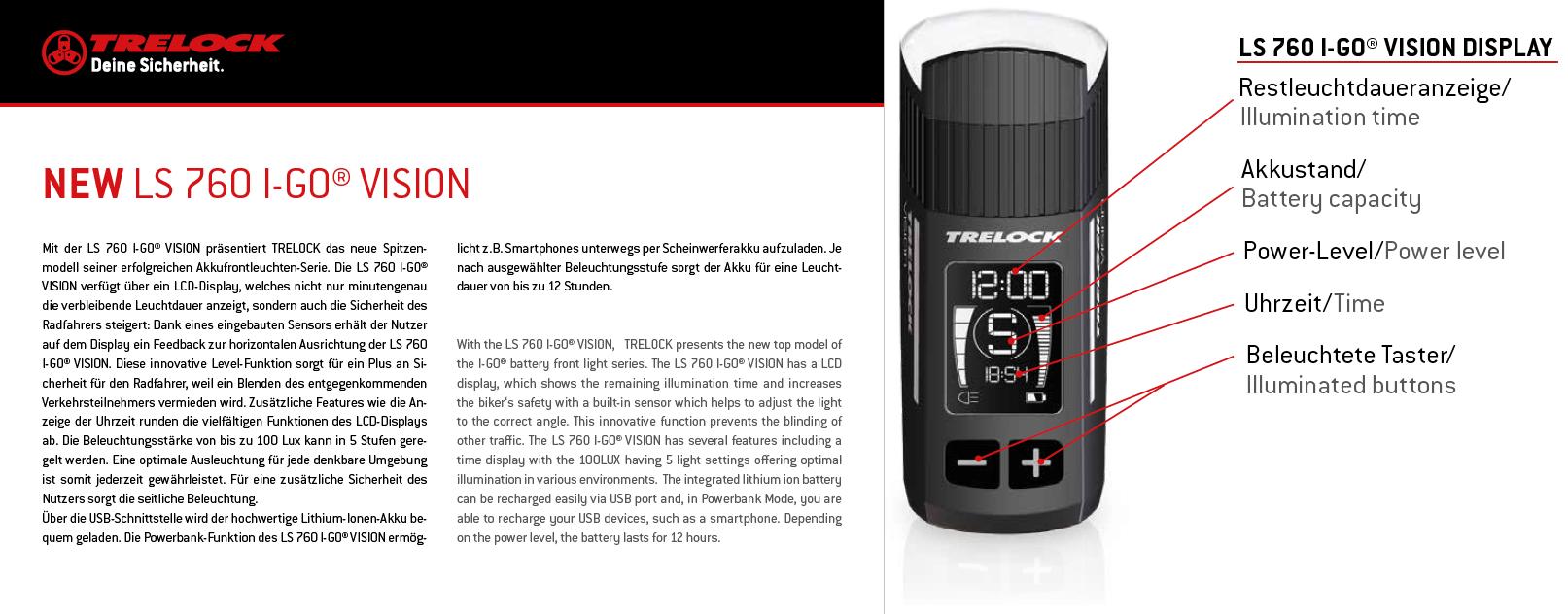 der neue trelock ls 760 i go vision 100lux scheinwerfer. Black Bedroom Furniture Sets. Home Design Ideas