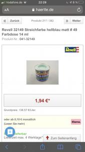 Revell 32149 Streichfarbe hellblau matt # 49 Farbdose 14 ml  Online kaufen bei Modellbau Härtle.png