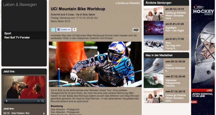 ServusTV - UCI Mountain Bike Worldcup