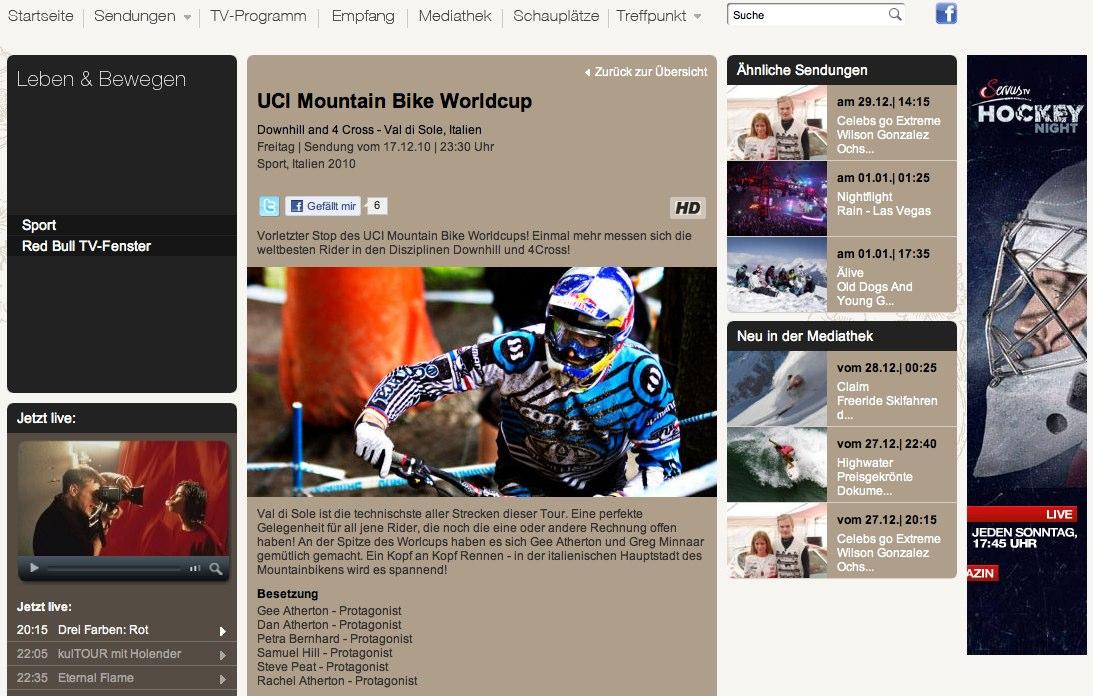 ServusTV - UCI Mountain Bike Worldcup