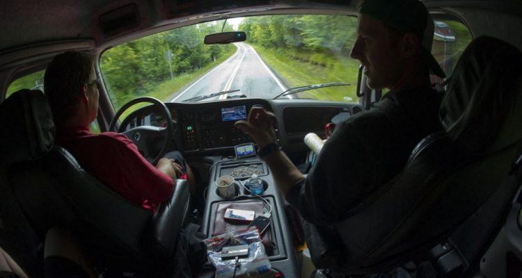 Unterwegs mit dem SRAM Truck nach Windham