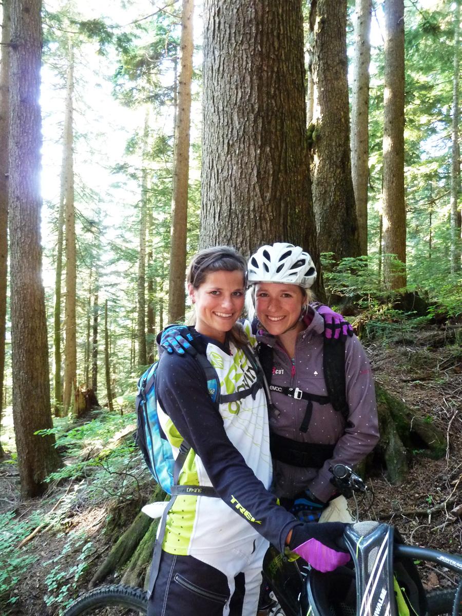 Vancouver_ Hannah Barnes und ich auf Mt. Seymour am Northshore von Vancouver