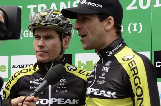 Die beiden Sieger der zweiten Etappe