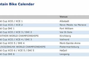 2013 UCI Mountain Bike Calendar