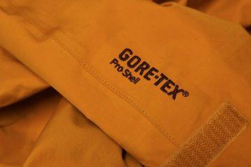 Testmaterial: GoreTex Pro Shell, bereits 4 Jahre im Einsatz.