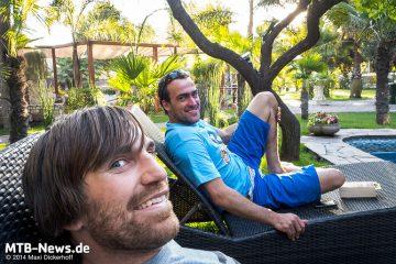 Team Deutschland ganz entspannt: Tilmann Schwab (h) und Maxi Dickerhoff (v)