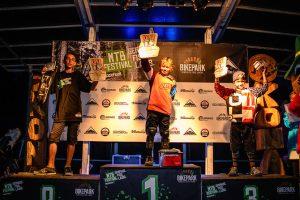 Die stolzen Gewinner in der  Klasse U13 der ersten Rookies Pumptrack Challenge in Serfaus-Fiss-Ladis.