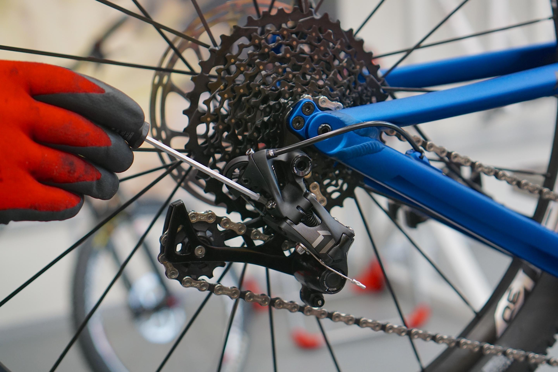 Mountainbike Werkstatt Schaltwerk Einstellen