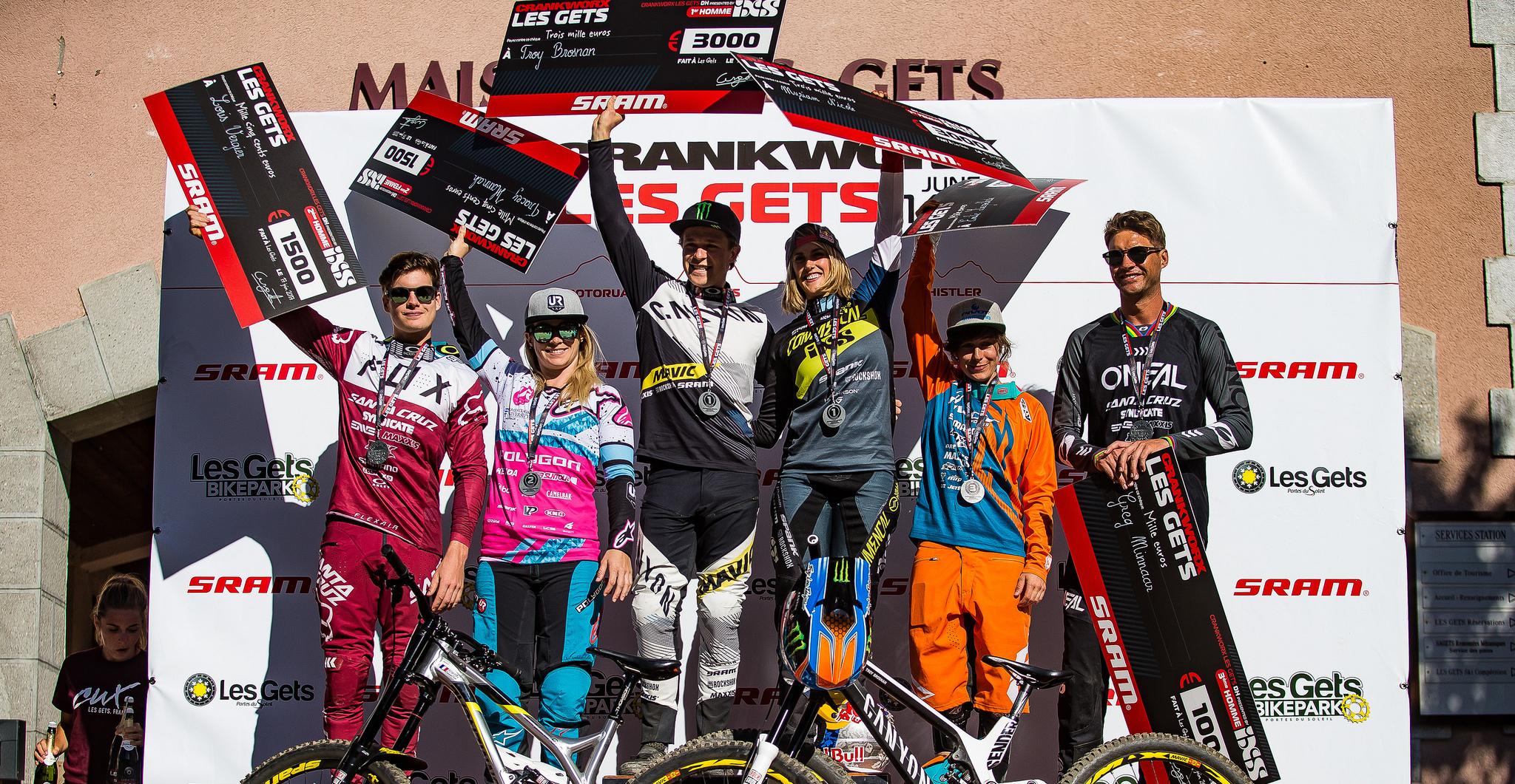 Crankworx Les Gets 2017: Brosnan & Nicole dominieren Downhill-Rennen