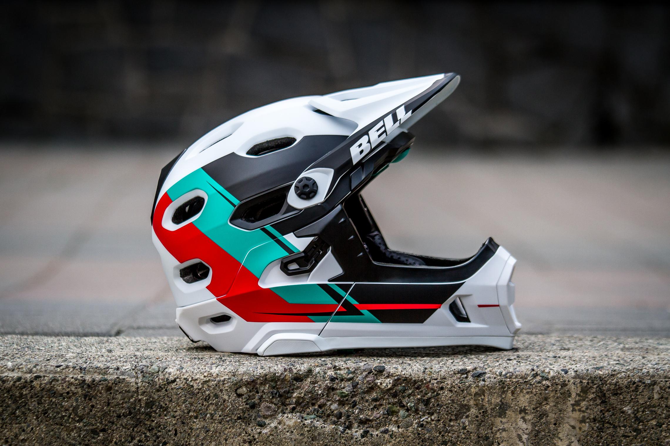 Bell Super Dh Neuer Full Face Helm Mit Abnehmbarem Kinnb 252 Gel