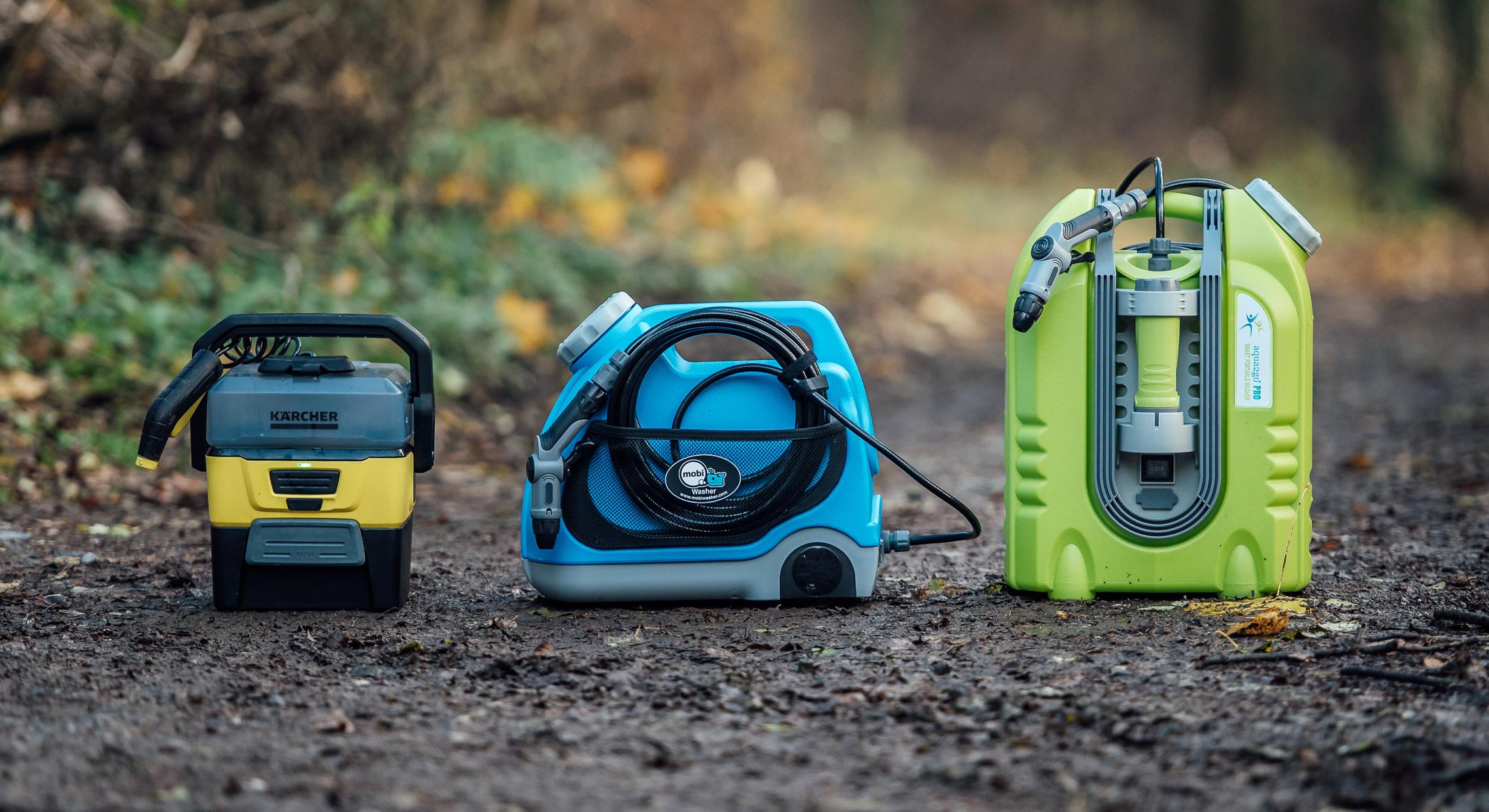 mobi, kärcher, aqua2go: drei portable wasser-reinigungsgeräte im test